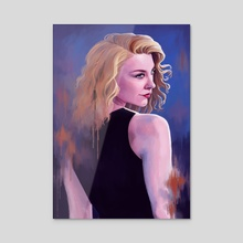 Natalie. - Acrylic by Anna-Maria Uitto