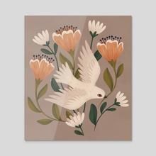 Weaving Dove - Acrylic by Lauren Myers