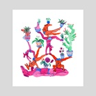 Gymnastics - Art Print by Lisa Hanawalt
