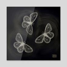 Night moths - Acrylic by Marta Rivera