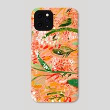 Peach Flower - Phone Case by Gouache & Ink