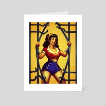 Bombshell Wonder Woman - Art Card by K. C. Garza