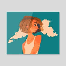 sunburnt - Acrylic by Eva Stanley