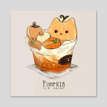 Pumpkin Cat 01 - Acrylic by Nadia Kim