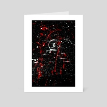 WDVMM - 0398 - Peace at Gate's Distance - Art Card by Wetdryvac WDV