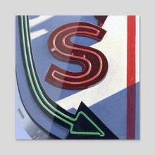 S - Acrylic by Sam Lacombe