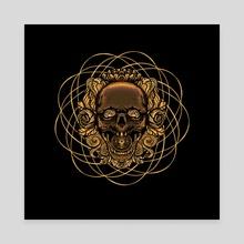 Skull mandala - Canvas by Adi Suardika
