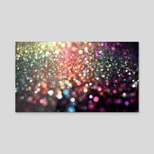 Under the Rainbow Snow - Acrylic by Andi GreyScale