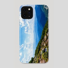 A view from the mountain to the mountains on a clear day - Phone Case by Kseniya Lokotko