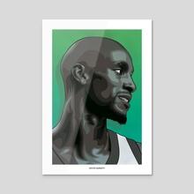 Kevin Garnett - Acrylic by Sebastian