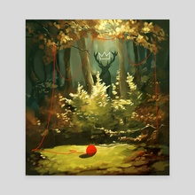 The Forest King - Canvas by Daryl  Toh