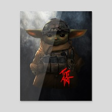 TACTICAL_YODA - Acrylic by titiartist