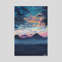 Misty Mountains  - Canvas by Kristine Linnea