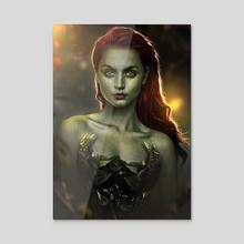 Poison Ivy - Acrylic by Valentin Romero