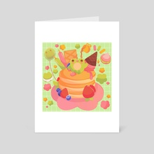 Pancake Froggo - Art Card by Puffychi