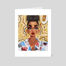 Pina de Boricua - Gold - Art Card by N.V. Carrasquillo