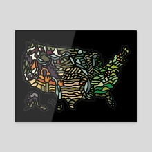 US MAP - Acrylic by Jimmy Bryant