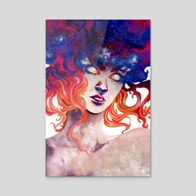 In Her Burning: Perpetual Light (color) - Acrylic by Sin Ribbon