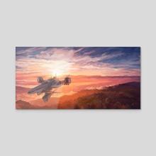 Highwind Airship - Acrylic by BDJ