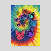 TIE DYE CATS - Canvas by Gloria Sánchez