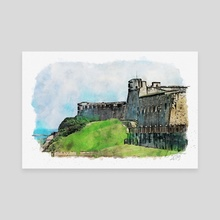 San Cristobal Fortress - Mixed Media - Canvas by Dreamframer Art