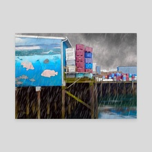 Port Dock One - Newport, Oregon - Canvas by Jason Pedegana