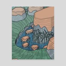 Moss River - Canvas by Timur Kulikov