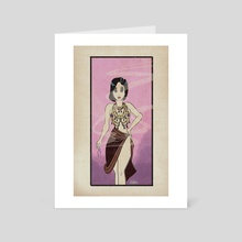 Death Becomes Her - Art Card by Bloodknot Collective