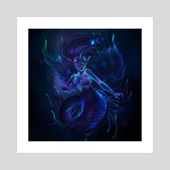 Bioluminescent Mermaid by jemaica murphy