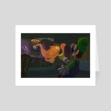 Pop-Up Portrait - Luigi's Mansion - Art Card by Angelo Furfaro