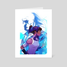 Korra and Zaheer (Poster) - The Legend of Korra - Art Card by Gabe Sapienza