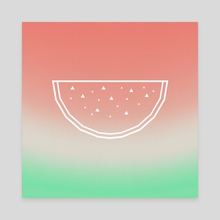 Watermelon - Canvas by e Drawings38