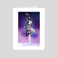 Exotic Dancer (Cyberpunk 2077) - Art Card by Michael Cain