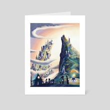 Welcome to Candleton - Art Card by Garth Laidlaw