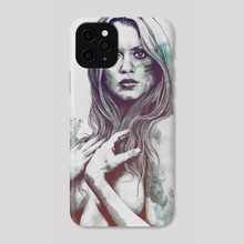Gloria: Blue - Phone Case by Marco Paludet