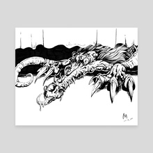 Monster Under the Bed - Canvas by Nikki Morris