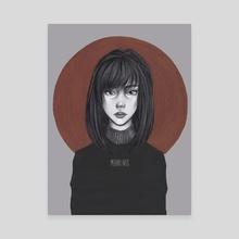 Blood Moon - Canvas by Meraki Arts