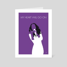 No151 MY Celine Dion Minimal Music poster - Art Card by Chungkong