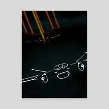 Tron lightjet - Canvas by Edwin U