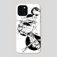 The Ride Of The Crazy Chinook - Phone Case by Eric Toubal