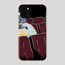 Astronaut Watching a Movie - Phone Case by Ziad Alhaddad