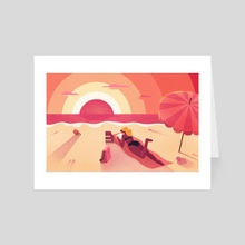 Beach Day - Art Card by Chelsea Loren Edwards