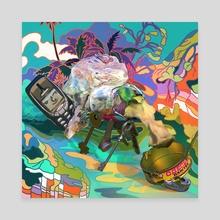Garbage Lenny - Canvas by Nadya Plyamko