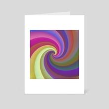 Rainbow Spiral 173 - Art Card by Chris Foulkes