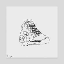"Reebok x Allen Iverson's ""Question Mid"" (Single Line Drawing) - Canvas by Trae Tay"