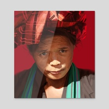 Peruvian woman - Acrylic by Thomas BIGNON