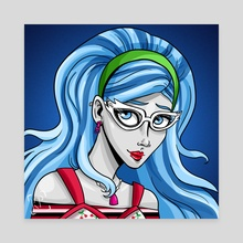 Ghoulia Yelps - Canvas by Kaela Peters