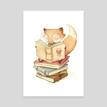 Book Lover - Canvas by Mike Koubou