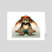 Grumpy Frost Troll - Art Card by robin eyre