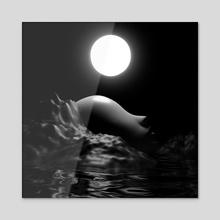 the hills whisper - Acrylic by Abhipsa
